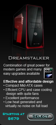 Dreamstalker custom gaming computers